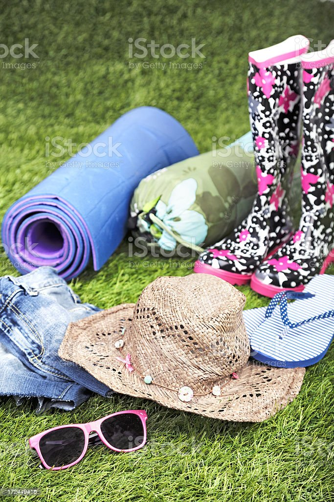 Summer Music Festival: essential items royalty-free stock photo