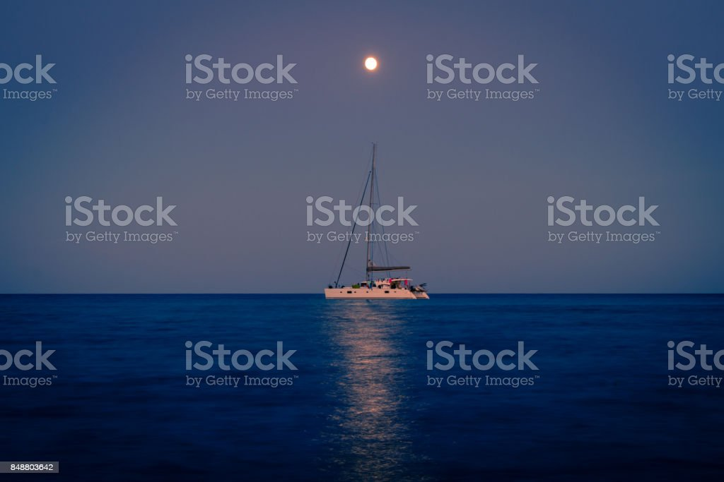 Summer night stock photo