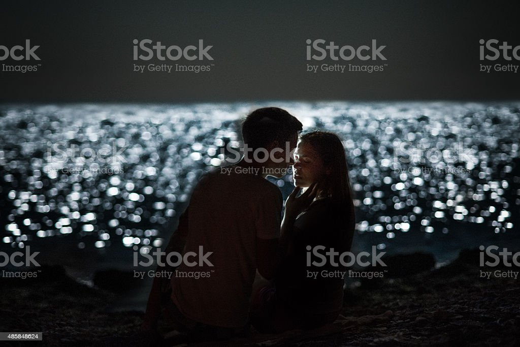 Summer nightt stock photo