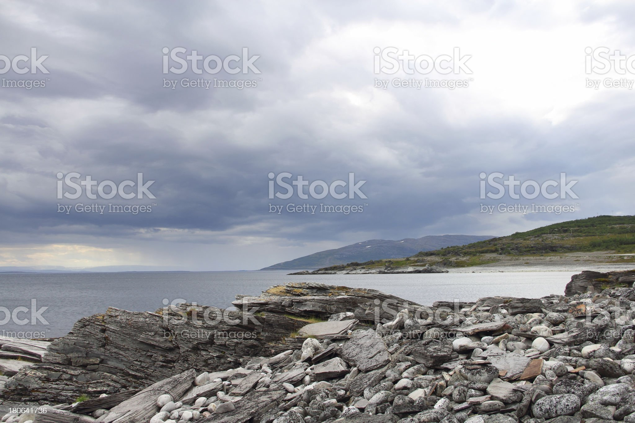Summer north norwegian landscape royalty-free stock photo