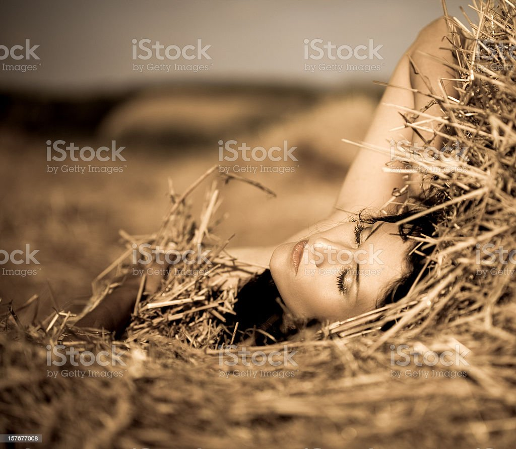 Summer nude royalty-free stock photo