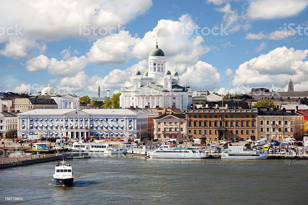 Summer of Helsinki, Finland stock photo