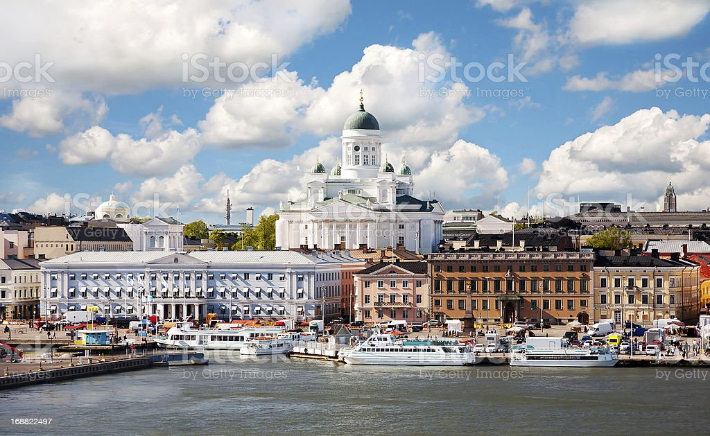 Summer of Helsinki, Finland. royalty-free stock photo