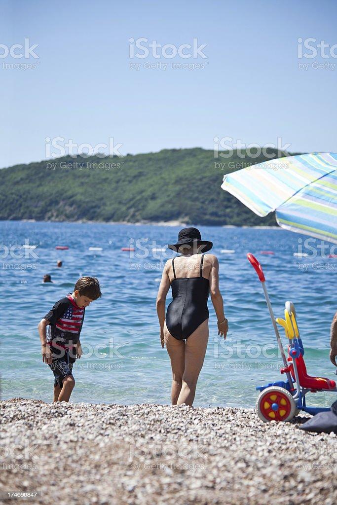 Summer on a beach stock photo