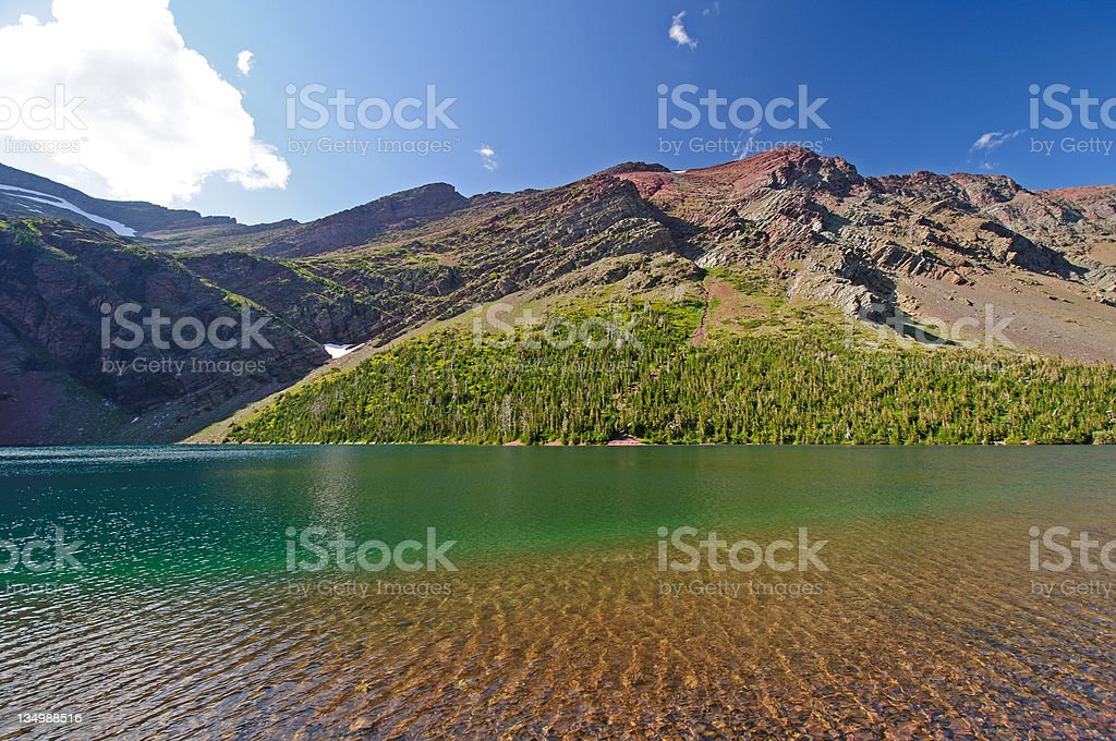 Summer on a Mountain Lake royalty-free stock photo