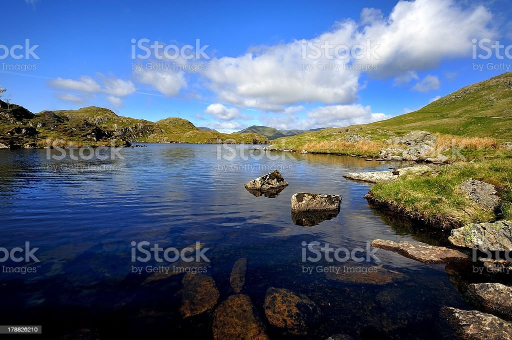 Summer on Angle Tarn royalty-free stock photo