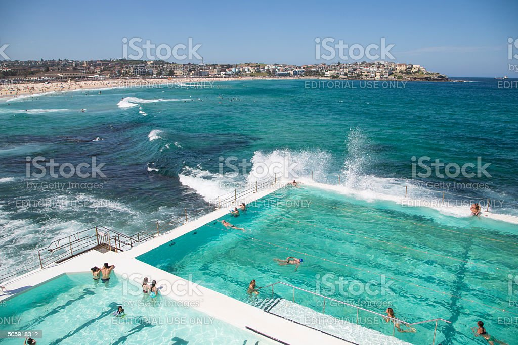 Summer on Bondi Beach, Australia stock photo