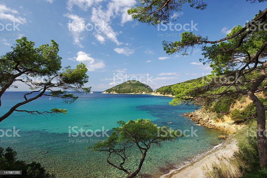 Summer on Isola d'Elba, Italy stock photo