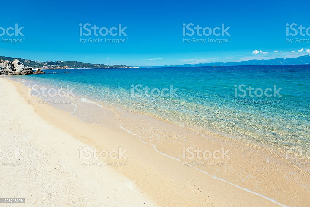 Summer on sandy beach - travel and holiday concept stock photo