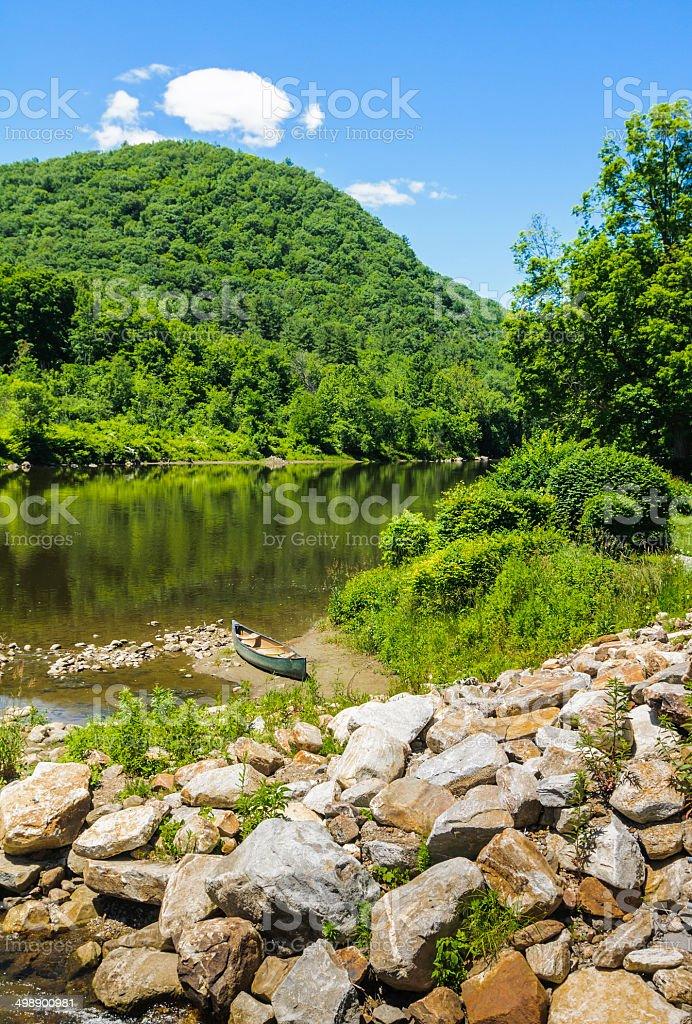 Summer on the Housatonic River stock photo