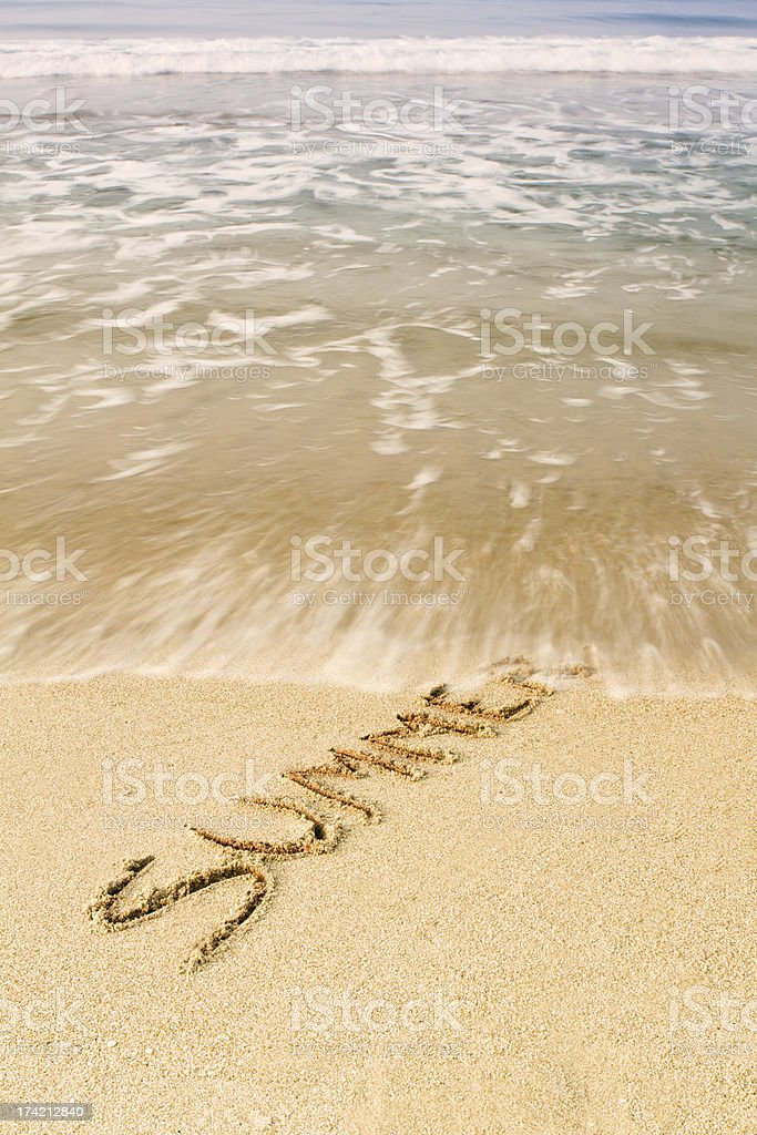 Summer on the sand royalty-free stock photo