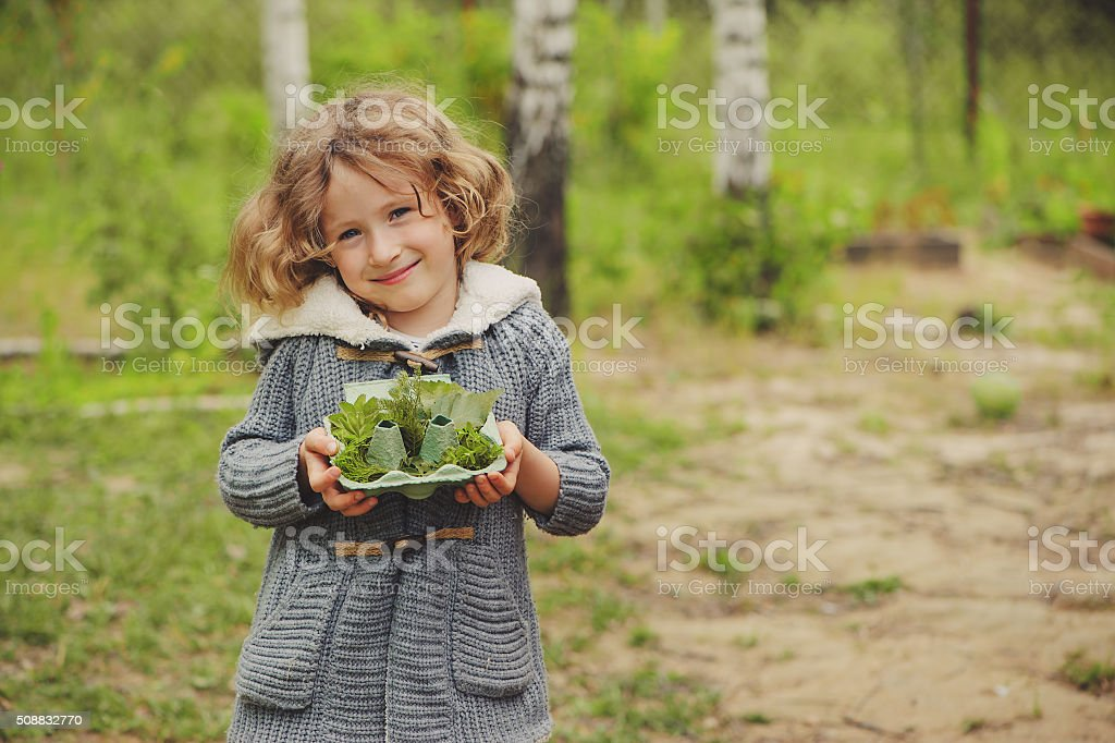 summer outdoor activity for kids - scavenger hunt stock photo