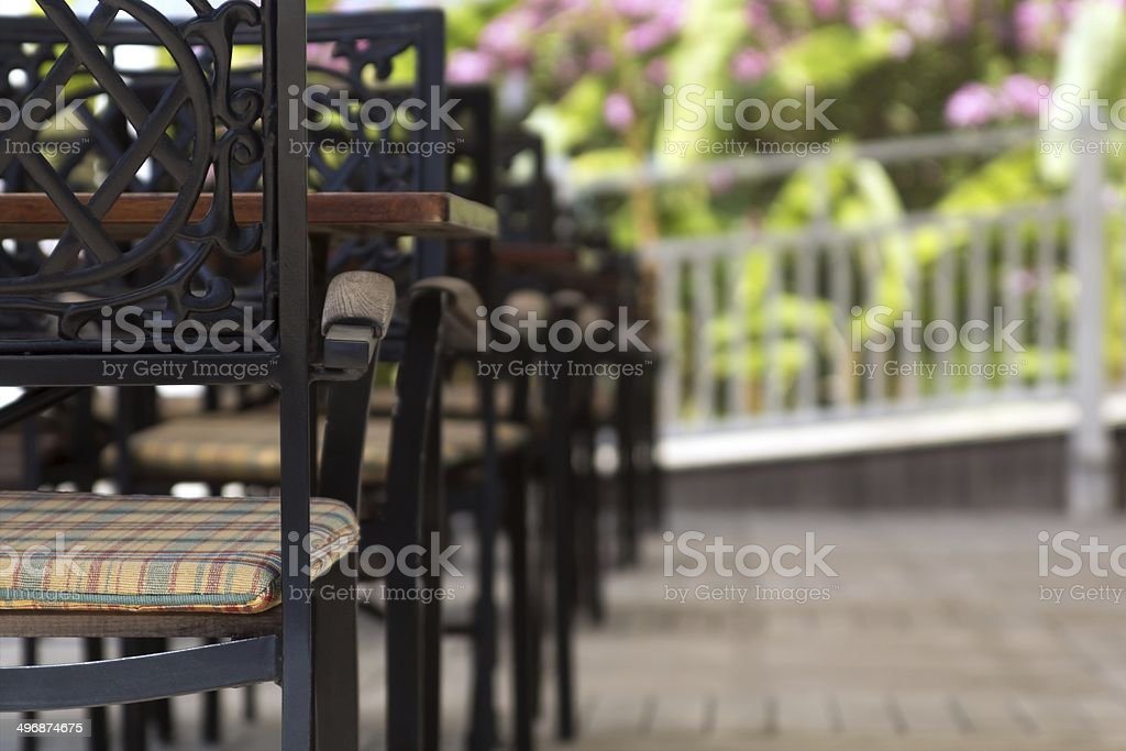 Summer Outdoor Cafe royalty-free stock photo