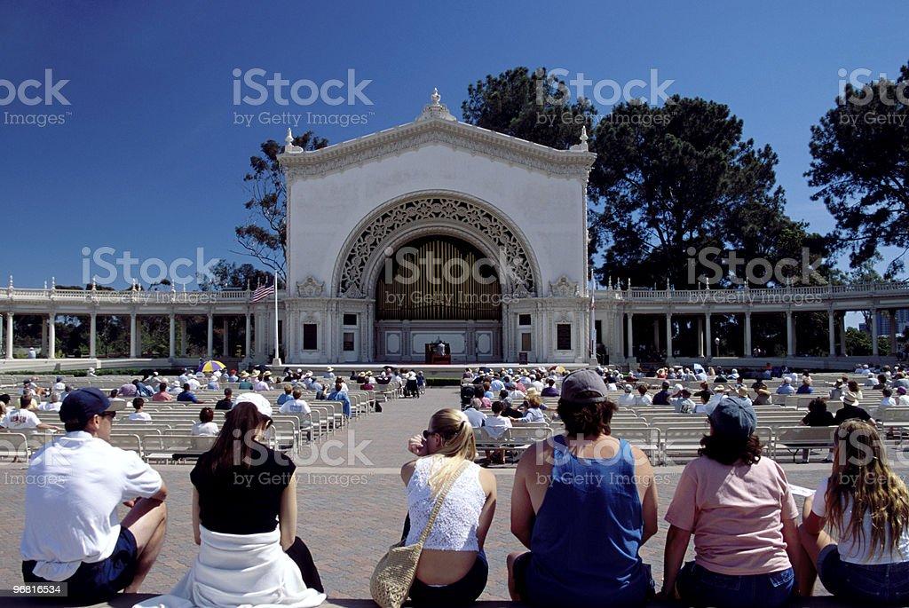 Summer Outdoor Concert, Balboa Park, San Diego stock photo