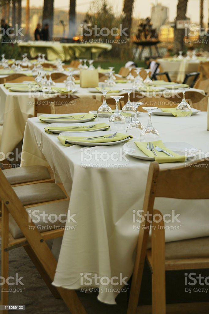 Summer outdoor dinner royalty-free stock photo