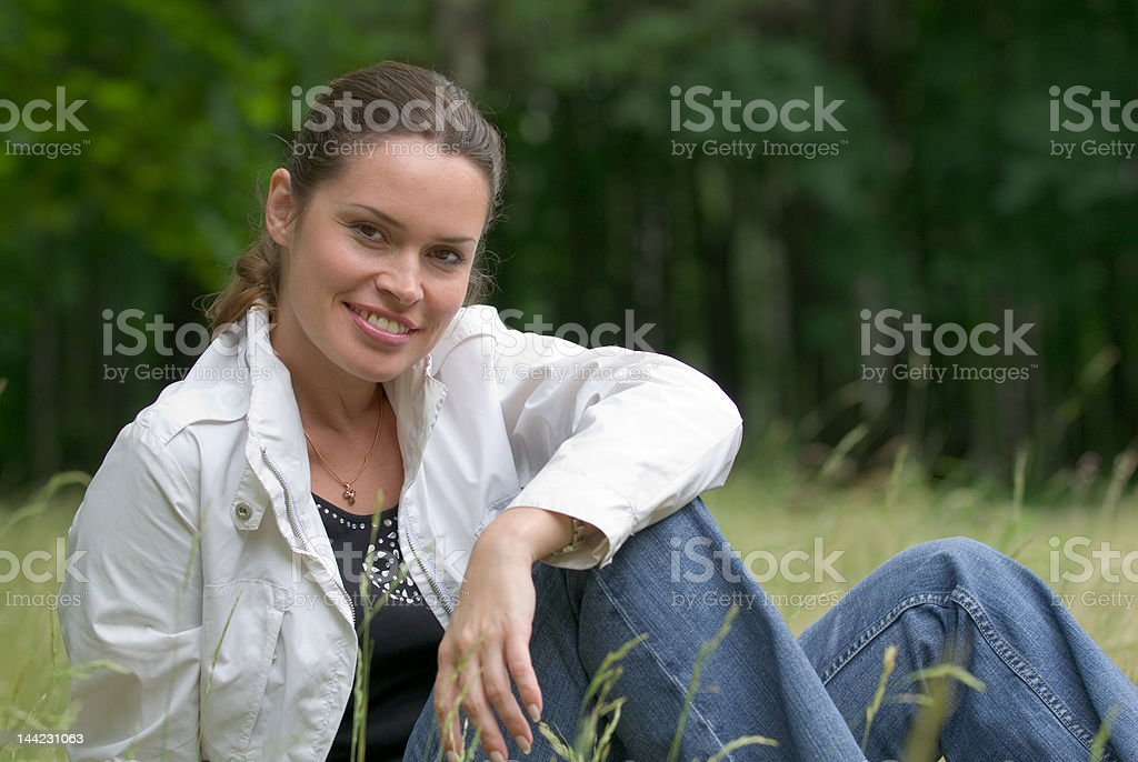 Summer outdoors relaxation royalty-free stock photo