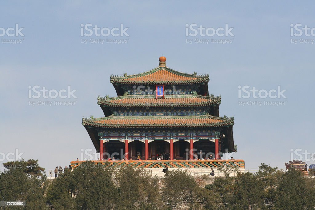 Summer Palace and Imperial Garden in Beijing stock photo