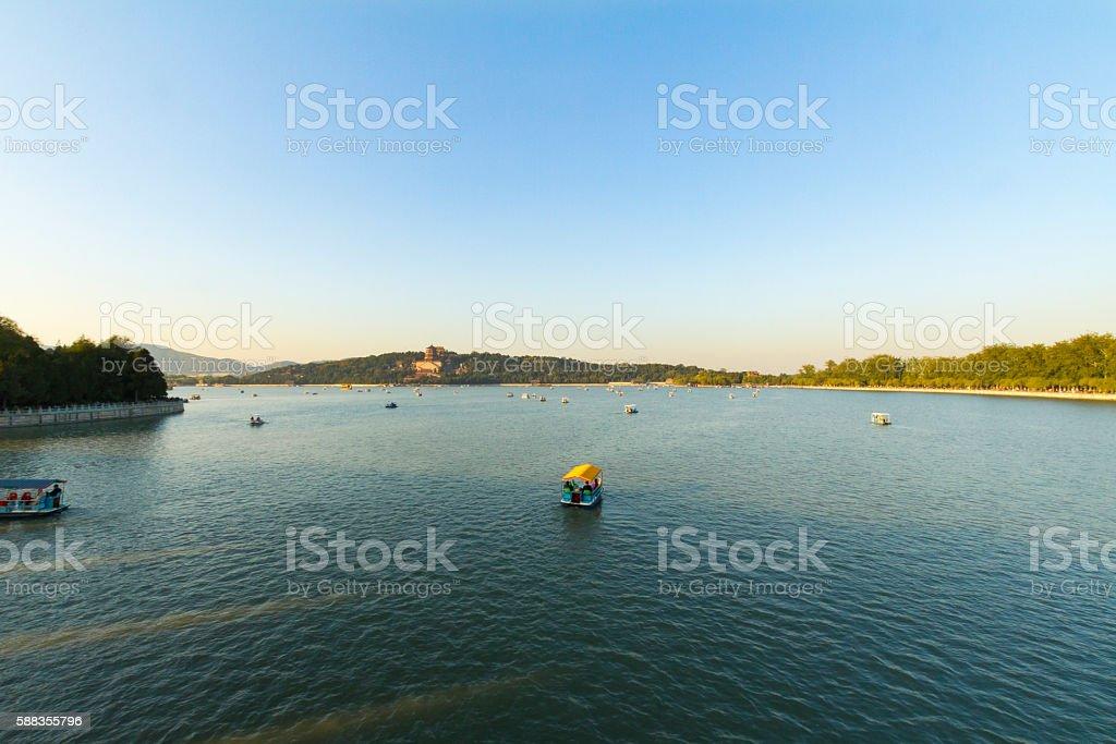 Summer Palace Beijing, Kunming Lake stock photo
