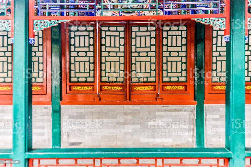 Summer Palace - Colorful Chinese Architecture stock photo