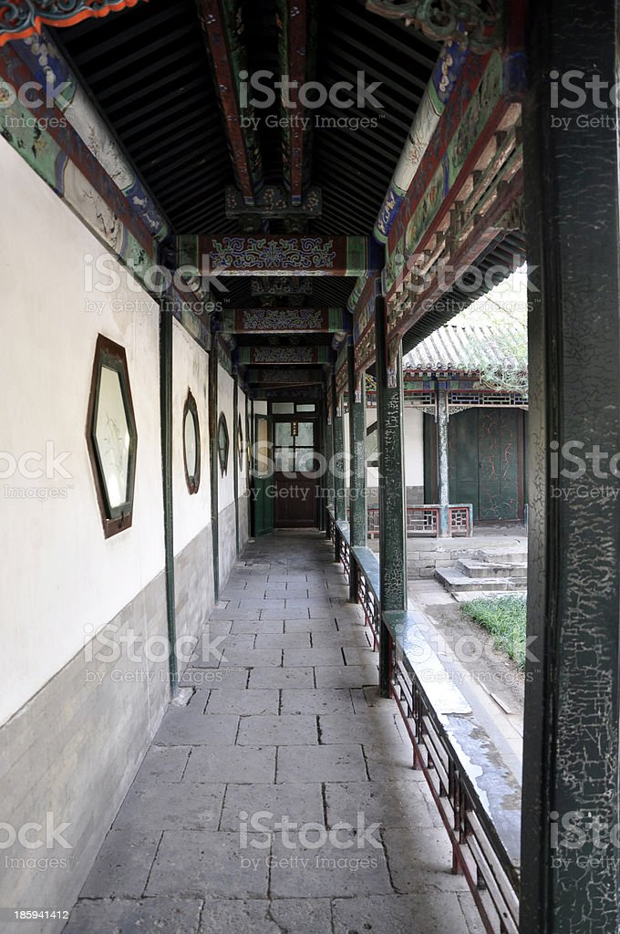 Summer Palace, Courtyard in Beijing, China stock photo