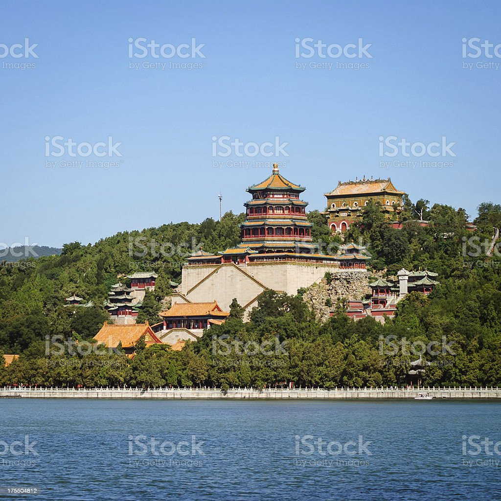 Summer Palace in Beijing china stock photo