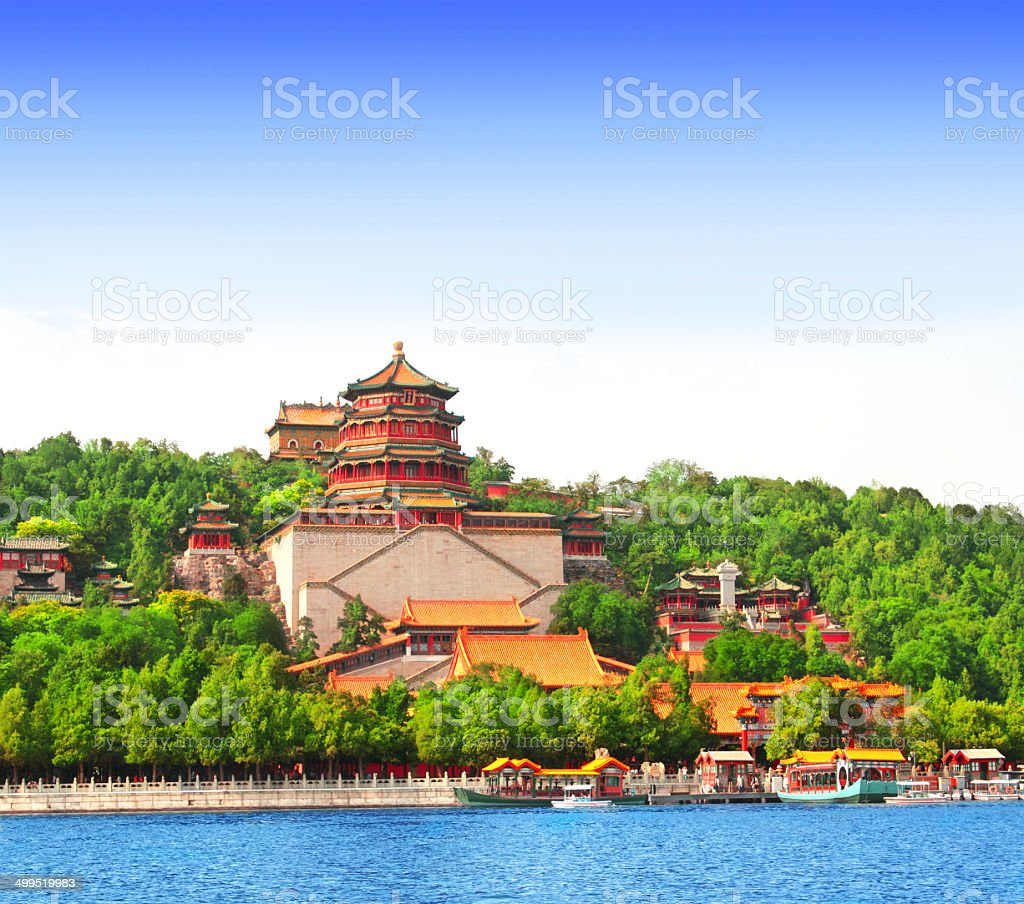 Summer Palace in Beijing, China stock photo