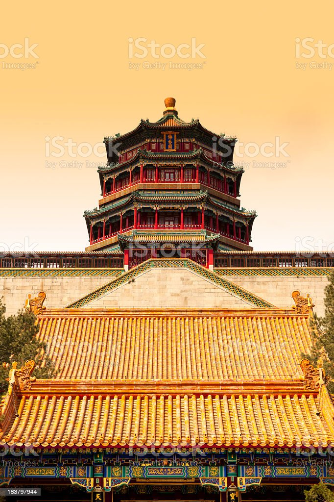 Summer Palace of Emperors in Beijing royalty-free stock photo