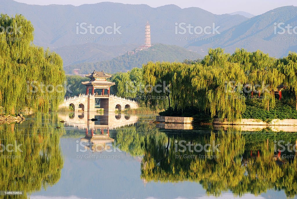 Summer palace stock photo