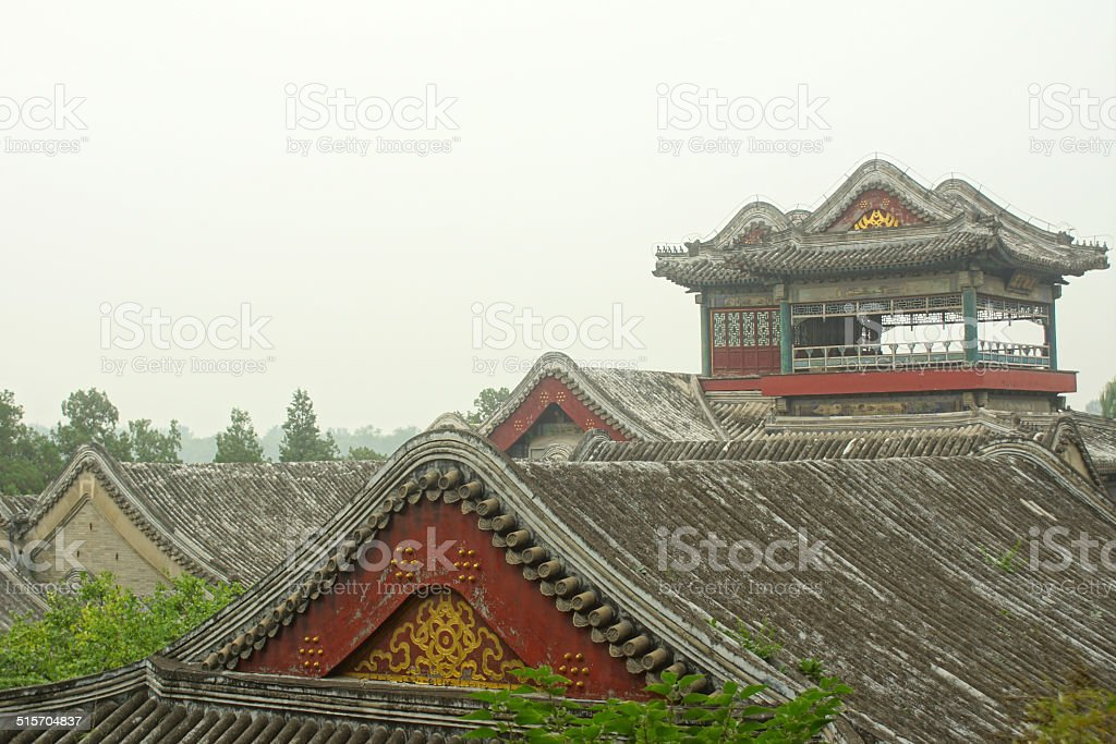 Summer palace - Rooftops stock photo