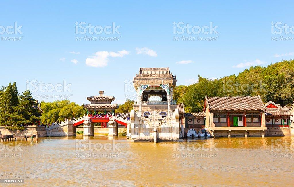 Summer Palace scene stock photo