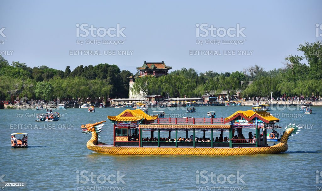 Summer palace scenery in Beijing,China. stock photo
