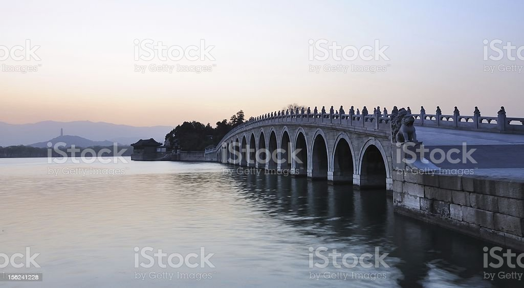 Summer Palace Seventeen Arch Bridge royalty-free stock photo