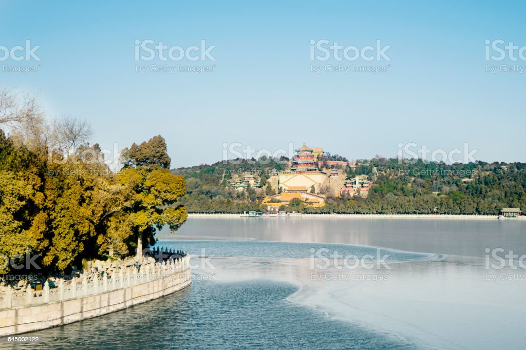 Summer Palace view stock photo