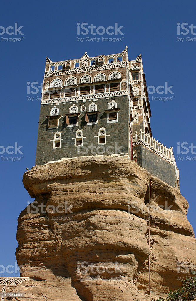 Summer Palace, Yemen royalty-free stock photo