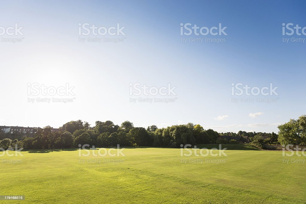 Summer park on derbyshire royalty-free stock photo