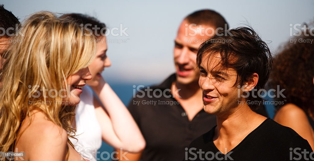 Summer Party, Group Of People royalty-free stock photo