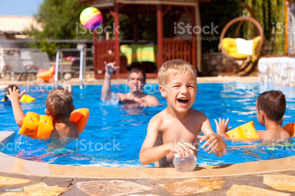 Summer Party In The Swimming Pool royalty-free stock photo