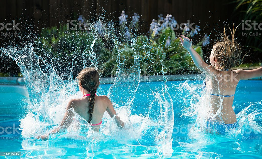 Summer Party In The Swimming Pool stock photo