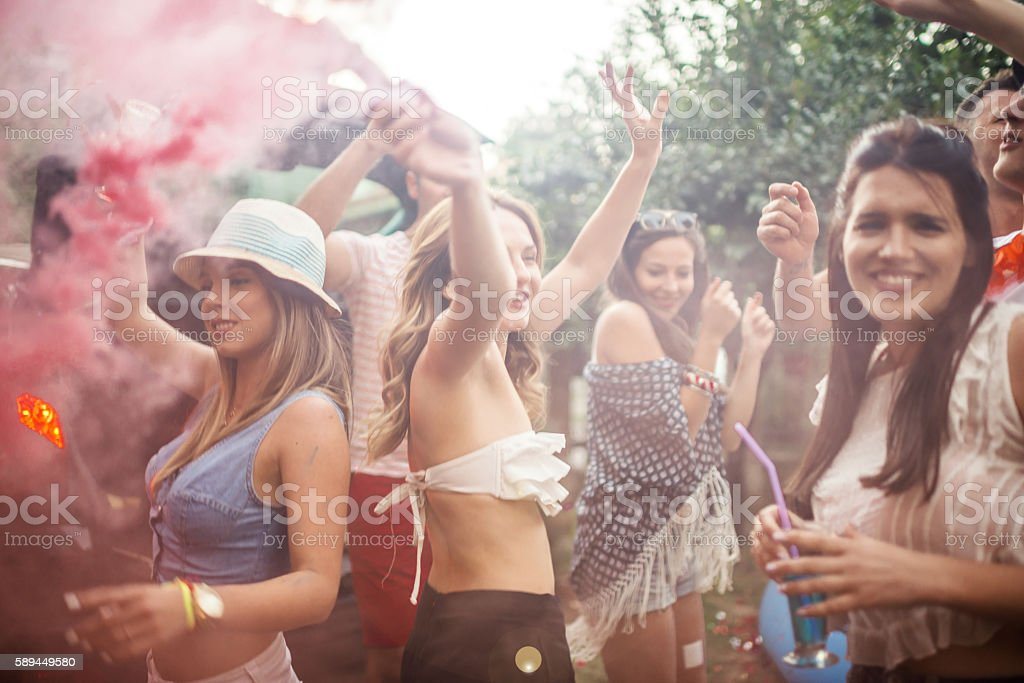 Summer Party time stock photo