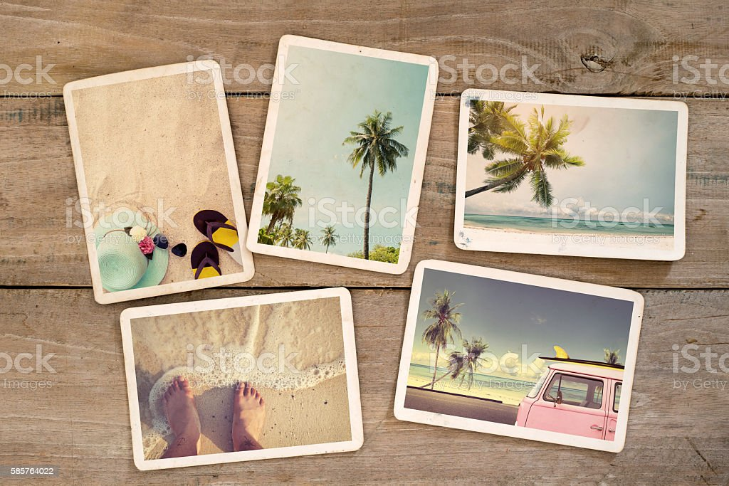 summer photo album stock photo