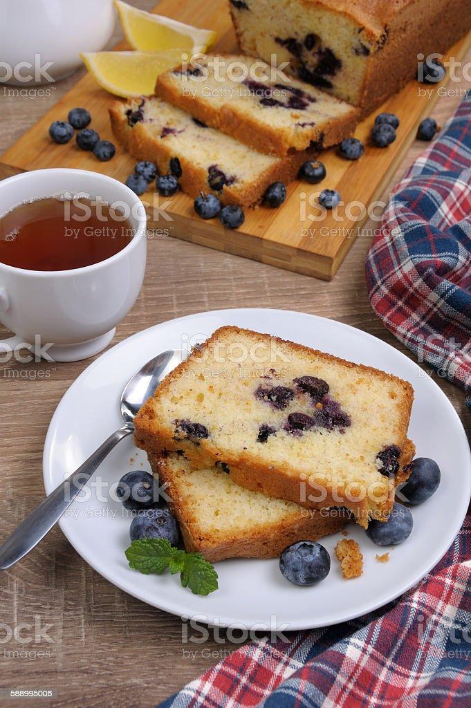 Summer pie  blueberry stock photo