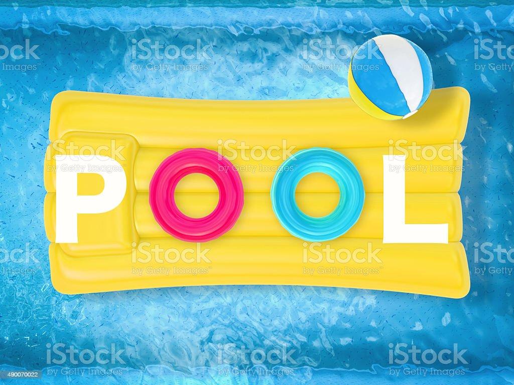 summer pool stock photo