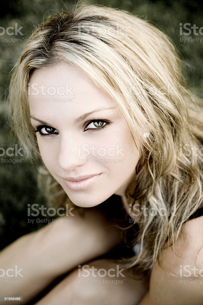 Summer Portrait / Colorized royalty-free stock photo
