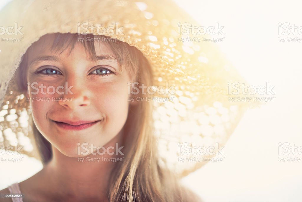 Summer portrait of a little girl royalty-free stock photo
