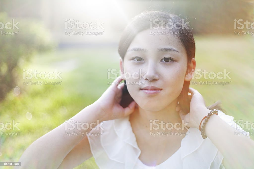 Summer portrait of asian girl royalty-free stock photo