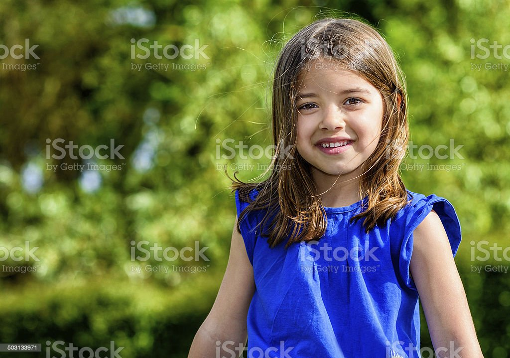 Summer portrait of happy cute child royalty-free stock photo