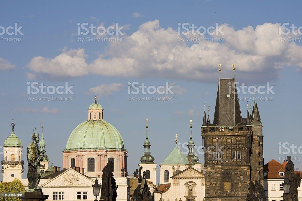 Summer Prague panorama stock photo