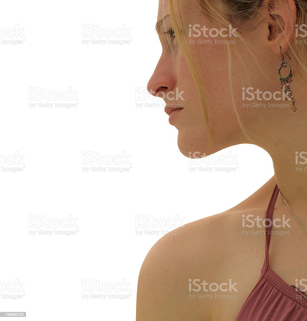 Summer profile royalty-free stock photo