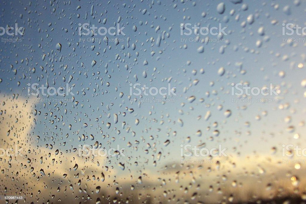 Summer Rain on a Window stock photo
