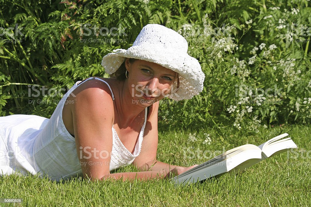 Summer Reading royalty-free stock photo